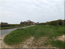 TM3669 : Track along the A1120 Yoxford Road by Adrian Cable