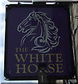 NT9953 : Sign for the White Horse, Berwick-on-Tweed  by JThomas