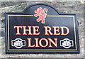 NT9953 : Sign on the Red Lion, Berwick-on-Tweed by JThomas