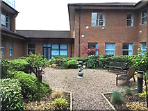 SJ8545 : Royal Stoke University Hospital: internal courtyard by Jonathan Hutchins