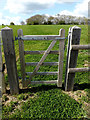 TM3272 : Footpath gate of the footpath to Barell's Hill by Adrian Cable