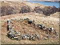 NM6727 : Arranged stones near to Abhainn a' Bhail' Uir by Trevor Littlewood