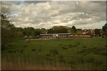 TL3706 : View of Broxbourne Rowing Club from the Lea Valley Line by Robert Lamb