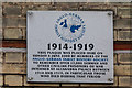 TQ2990 : Memorial Plaque, Alexandra Palace, London N22 by Christine Matthews