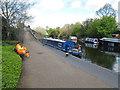 TQ2382 : Flying Kipper - narrowboat on Paddington Arm, Grand Union Canal by David Hawgood