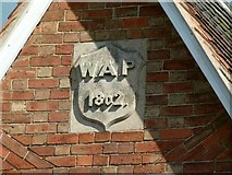 SK6514 : Datestone on almshouses on Melton Road, Rearsby by Alan Murray-Rust