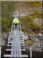 NH3355 : Suspension footbridge over the River Meig by Oliver Dixon