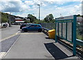 ST0083 : Information boards outside Llanharan railway station by Jaggery