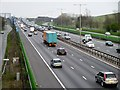 TQ0077 : Eastbound M4 from the Footbridge at Langley by David Dixon