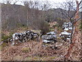 NG8749 : Stone Structure at Badan Bheag by Alpin Stewart