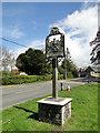 TM0567 : Bacton village sign by Adrian S Pye