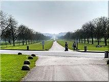 SU9675 : Windsor Great Park, Albert Road Crossing The Long Walk by David Dixon