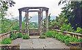 V9354 : Garnish Island: Grecian temple in Italian Gardens, 1993 by Ben Brooksbank