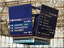 TQ3179 : Direction indicator, Waterloo Station by Julian Osley