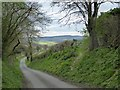 SO4583 : Start of a footpath at Upper Dinchope by David Smith