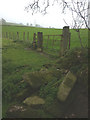 SD5369 : Discarded stone gateposts, Swarthdale by Karl and Ali