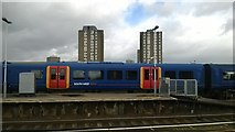 TQ2775 : Looking north from platform 12, Clapham Junction station by Christopher Hilton
