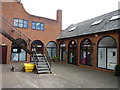 SO9445 : Shops in Royal Arcade, Broad Street, Pershore by Jeff Gogarty