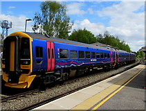 SU3521 : Portsmouth Harbour train in Romsey railway station by Jaggery