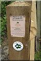 SS7986 : Footpath waymarker, Graig Fawr, Margam by eswales