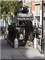 TQ2981 : Restaurant in former gentleman's public convenience, Foley Street, London W1 by Julian Osley