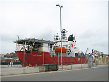 TG5204 : Red7 Alliance as seen from South Denes Road by Evelyn Simak