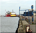 TG5304 : Ships moored on East Quay, South Denes by Evelyn Simak