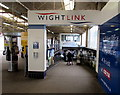 SU6200 : Wightlink walkway from Portsmouth Harbour railway station by Jaggery