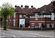 ST9273 : Corner of Wiltshire College, Chippenham by Jaggery