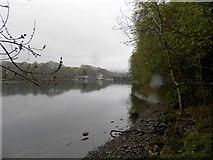 NN9357 : Loch Faskally at the dam by Douglas Nelson