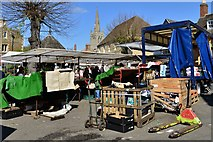 SK8608 : Oakham Saturday Market 3 with All Saints' Church by Michael Garlick