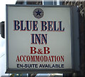 NU2322 : Sign for the Blue Bell Inn, Embleton by JThomas