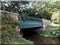 SJ8581 : River Bollin side of a road bridge, Wilmslow by Jaggery