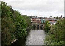 NZ2742 : Durham: towards Elvet Bridge by John Sutton