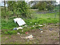 SK6502 : Fly Tipping, Houghton Lane by Mick Garratt