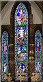 SK9480 : East window, St Cuthbert's church, Brattleby by Julian P Guffogg