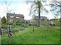 SE2715 : Back garden, Stocksmoor Lane, Midgley [2] by Christine Johnstone