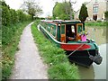 ST8660 : Hireboat moored overnight at Hilperton by Christine Johnstone