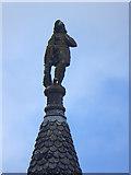 NJ1736 : Rooftop figure, Ballindalloch Castle by Oliver Dixon