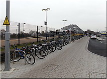SU5290 : Cycle racks outside Didcot Parkway railway station by Jaggery
