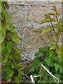 SK9858 : Cut Mark: Navenby, Lincoln Road, Wall by Brian Westlake
