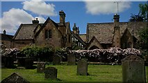 SP0228 : Former Dent's infant school and school house from the churchyard by Roger Davies