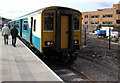 SO1709 : First scheduled arrival at Ebbw Vale Town railway station by Jaggery