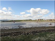 NU1341 : View across The Ouse, Holy Island by Graham Robson