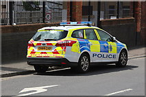 TQ7407 : Ford Focus police car, Station Road by Oast House Archive