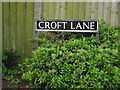 TM1180 : Croft Lane sign by Adrian Cable