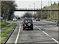 TQ0658 : Footbridge over Portsmouth Road by David Dixon
