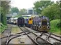 SE2889 : The sidings west of Leeming Bar Station by Christine Johnstone