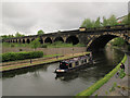 SE2933 : Former railway viaduct over canal, Leeds by Stephen Craven