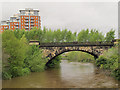 SE2933 : Former railway viaduct over River Aire, Leeds by Stephen Craven